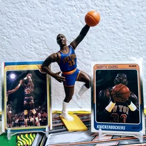Patrick Ewing 1989 SLU and 1988 Cards Knicks Baske